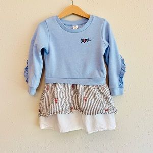 Gap Sweatshirt Ruffle Dress/Sz:3T